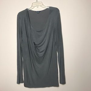 Vince Side Draped Front Blouse, Micro Modal, Soft